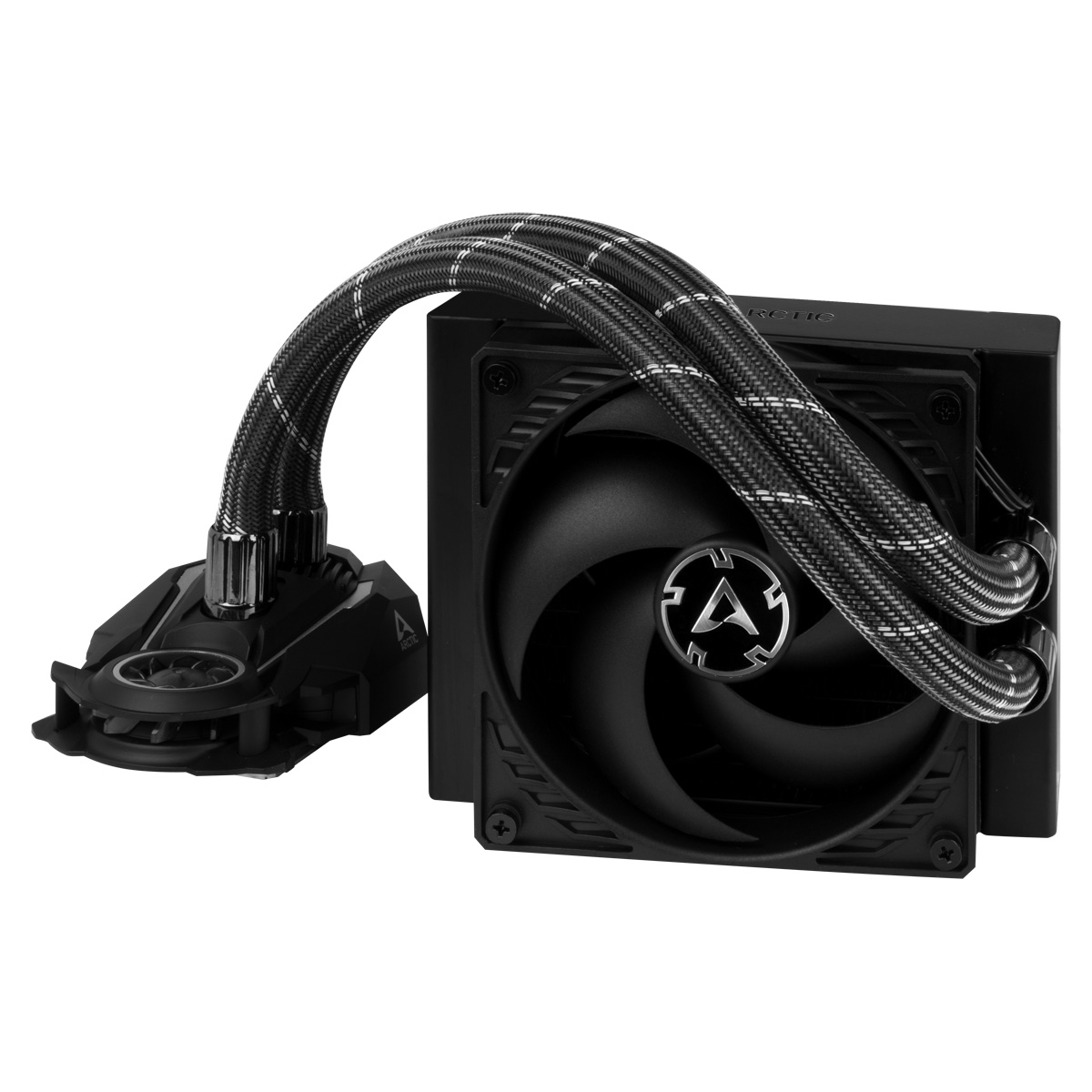 Multi-Compatible AiO CPU Water Cooler ARCTIC Liquid Freezer II 120 Front View