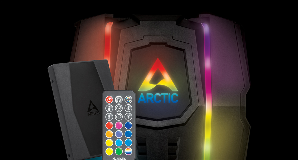 Multi Compatible Dual Tower CPU Cooler ARCTIC Freezer 50 Optional A-RGB Controller
