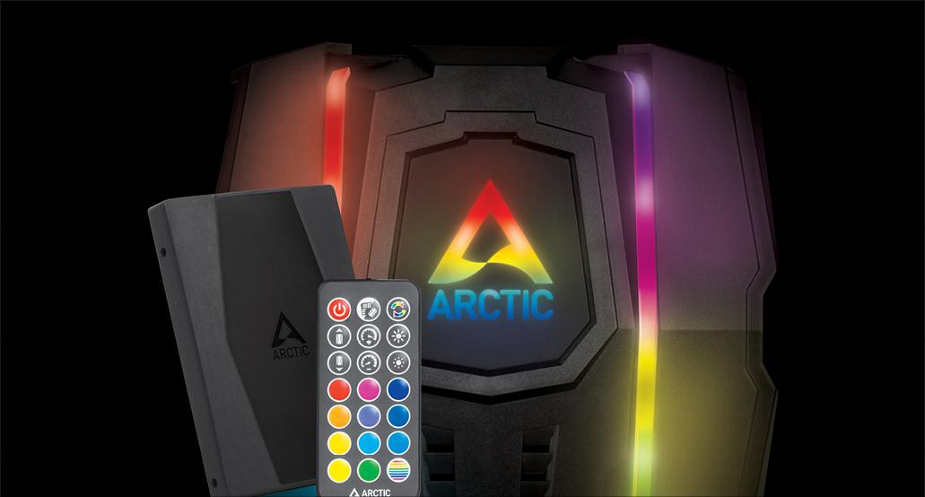 Multikompatibler Dual Tower CPU Kühler  ARCTIC Freezer 50 optionaler A-RGB Controller