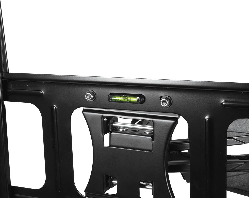 Vollbewegliche XL TV-Wandhalterung ARCTIC TV Flex L Detailansicht Integrierte Wasserwaage
