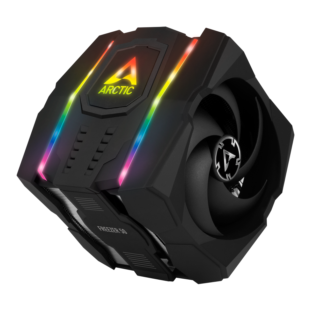 Multi Compatible Dual Tower CPU Cooler with A-RGB  ARCTIC Freezer 50