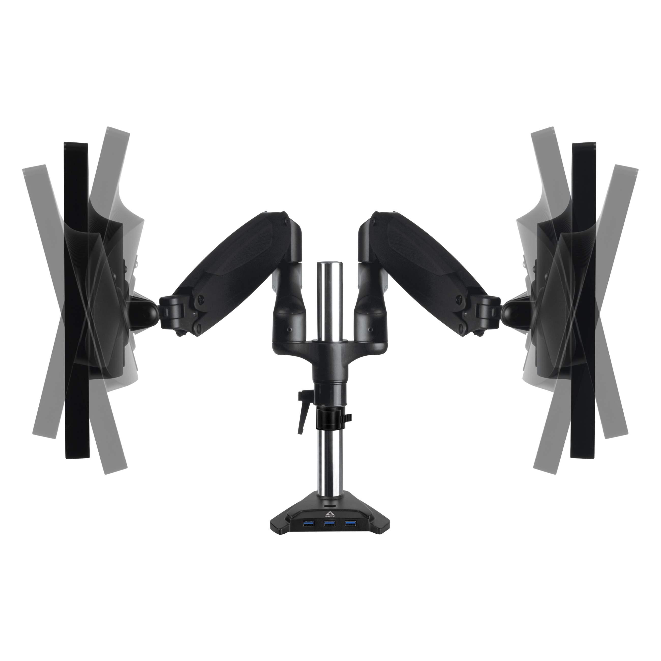 Desk Mount Gas Spring Dual Monitor Arm ARCTIC Z2-3D (Gen 3) Tiltable