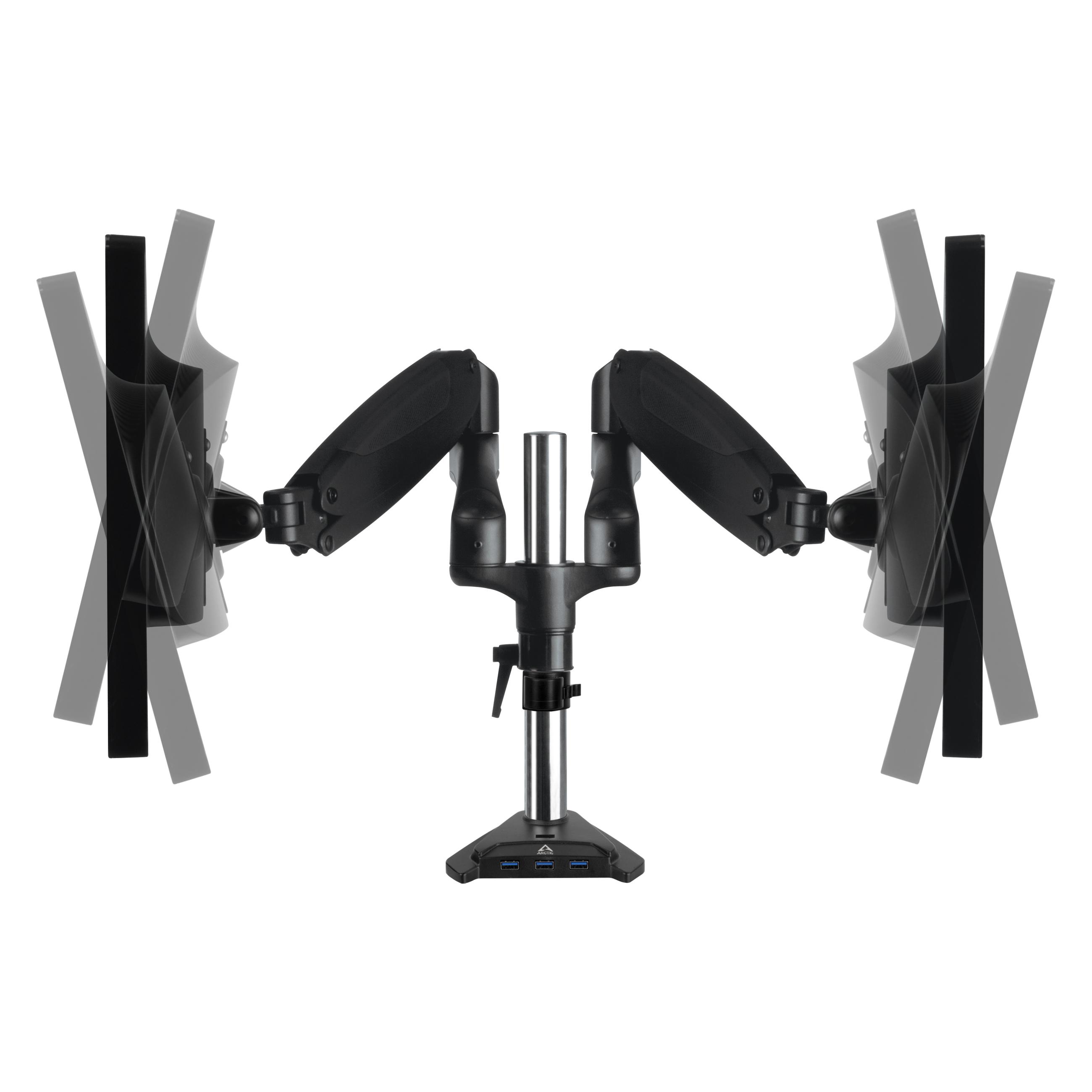 Dual-Monitorarm mit Gasfeder ARCTIC Z2-3D (Gen 3) Neigbar