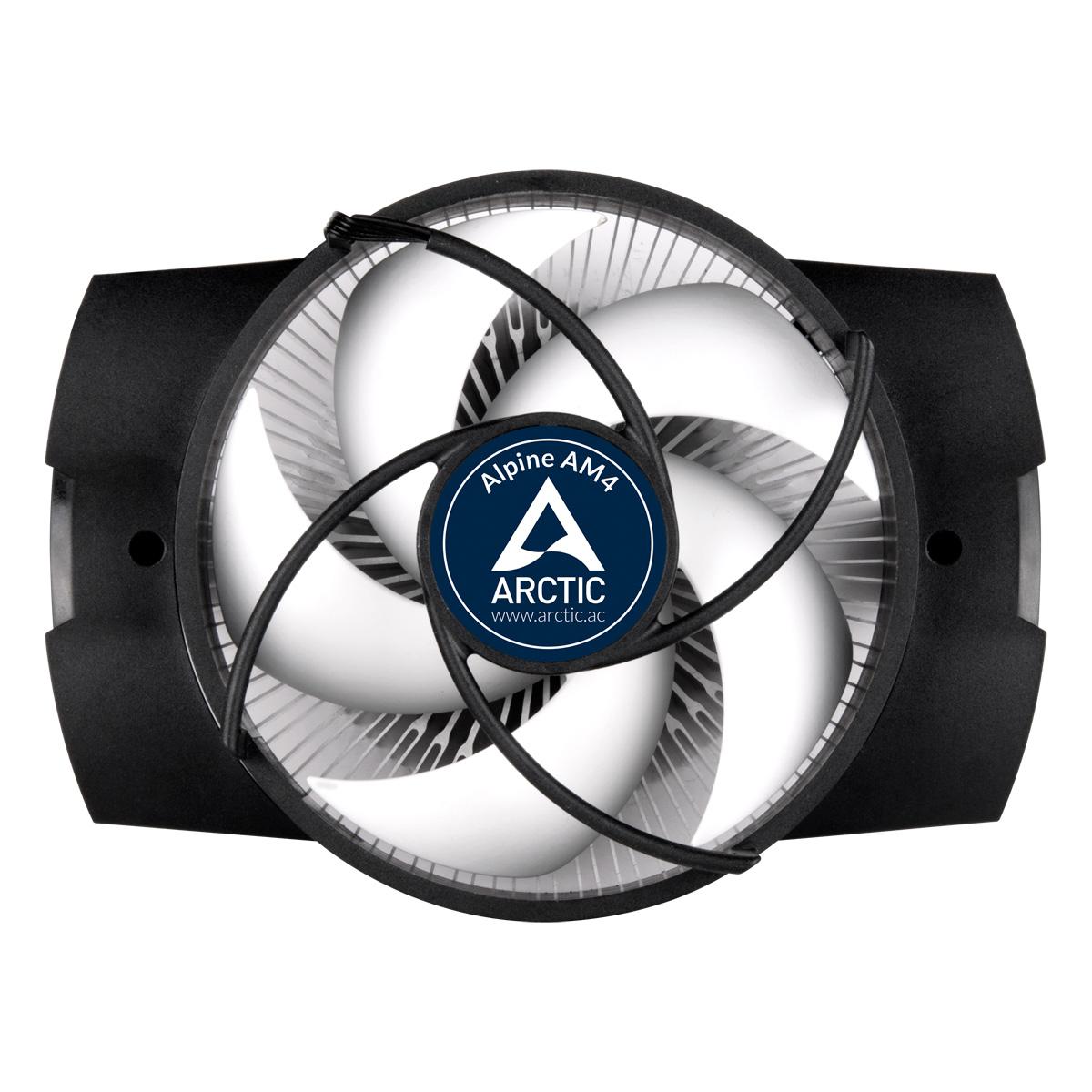 Kompakter AMD CPU-Kühler ARCTIC Alpine AM4 Vorderansicht
