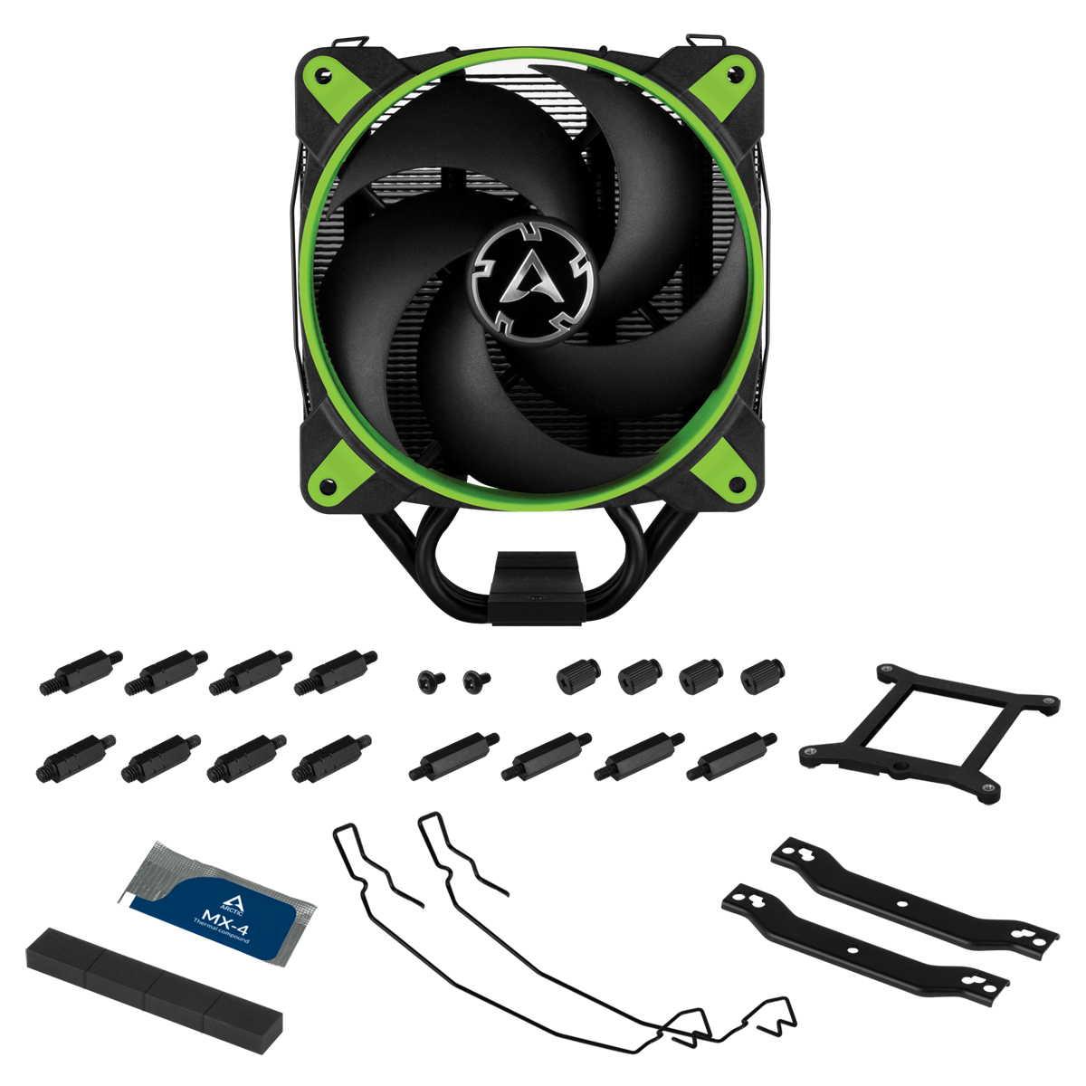 Tower CPU Cooler with BioniX P-Fan ARCTIC Freezer 34 eSports (Green) Package Contents