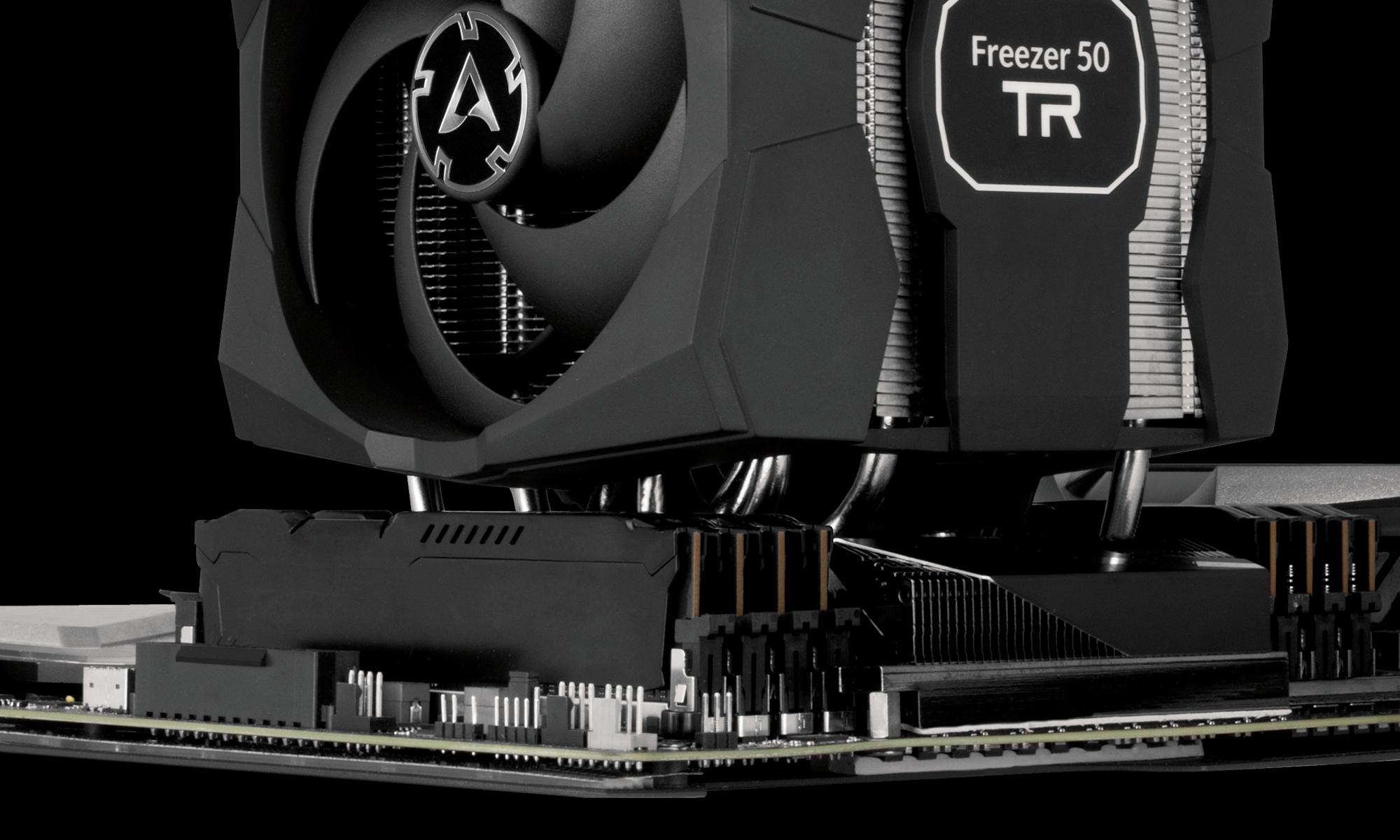 Dual Tower CPU-Kühler für AMD Ryzen™ Threadripper™ ARCTIC Freezer 50 TR RAM Kompatibilität