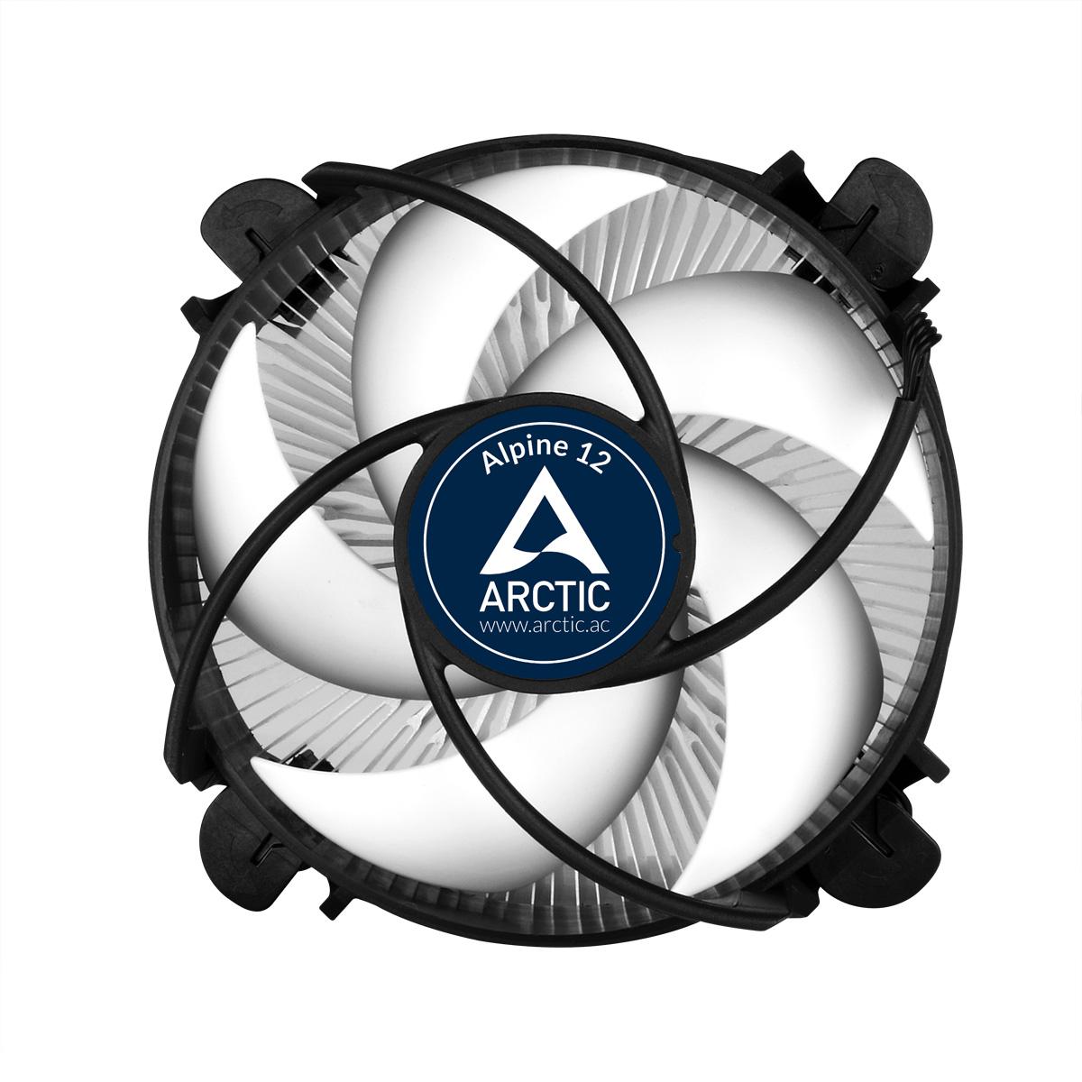 Kompakter Intel CPU-Kühler ARCTIC Alpine 12 Vorderansicht