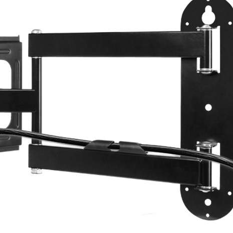 Full-Motion TV Wall Mount ARCTIC TV Flex M Detail View Cable Management