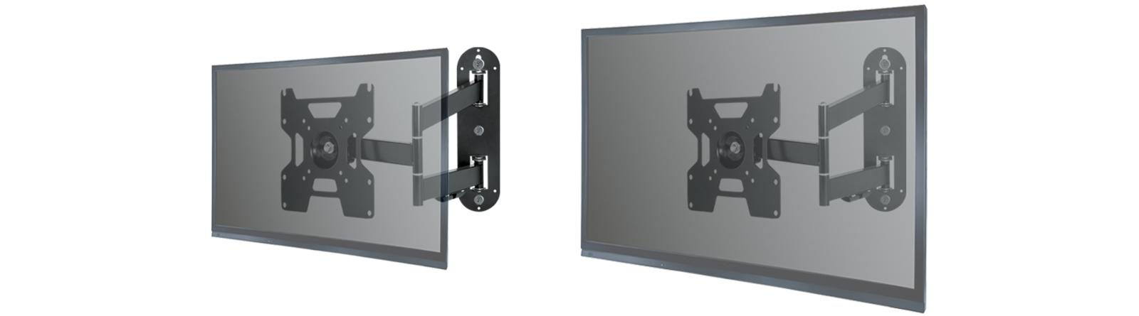 Vollbewegliche Wandhalterung ARCTIC TV Flex S für kleine und mittelgroße TVs