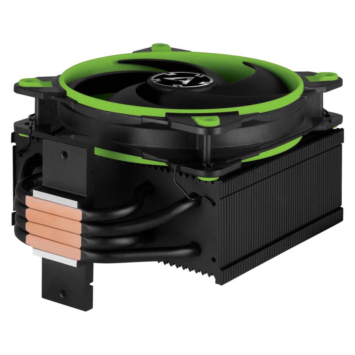 Tower CPU Cooler with BioniX P-Fan ARCTIC Freezer 34 eSports (Green) Detail View Direct Touch Heatpipes