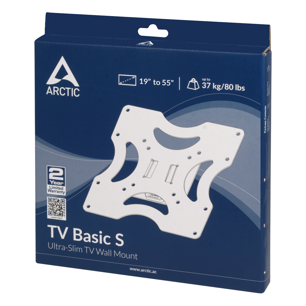 Slim TV Wall Mount ARCTIC TV Basic S Packaging Front View