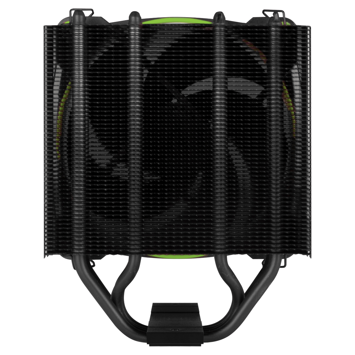 Tower CPU Cooler with BioniX P-Fan ARCTIC Freezer 34 eSports (Green) Rear View