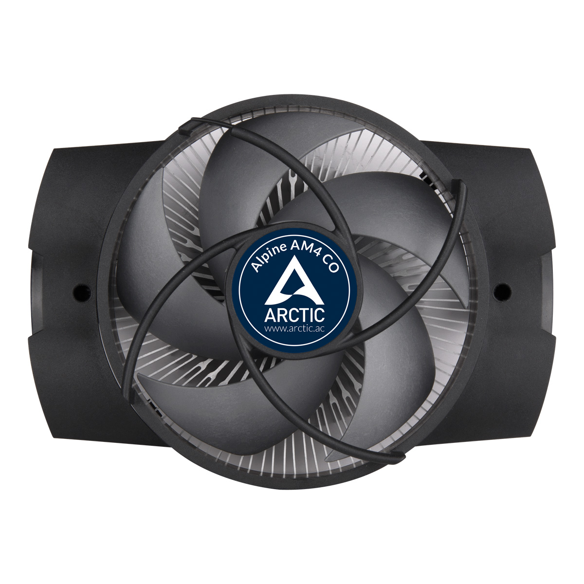 Compact AMD CPU Cooler for Continuous Operation ARCTIC Alpine AM4 CO Front View