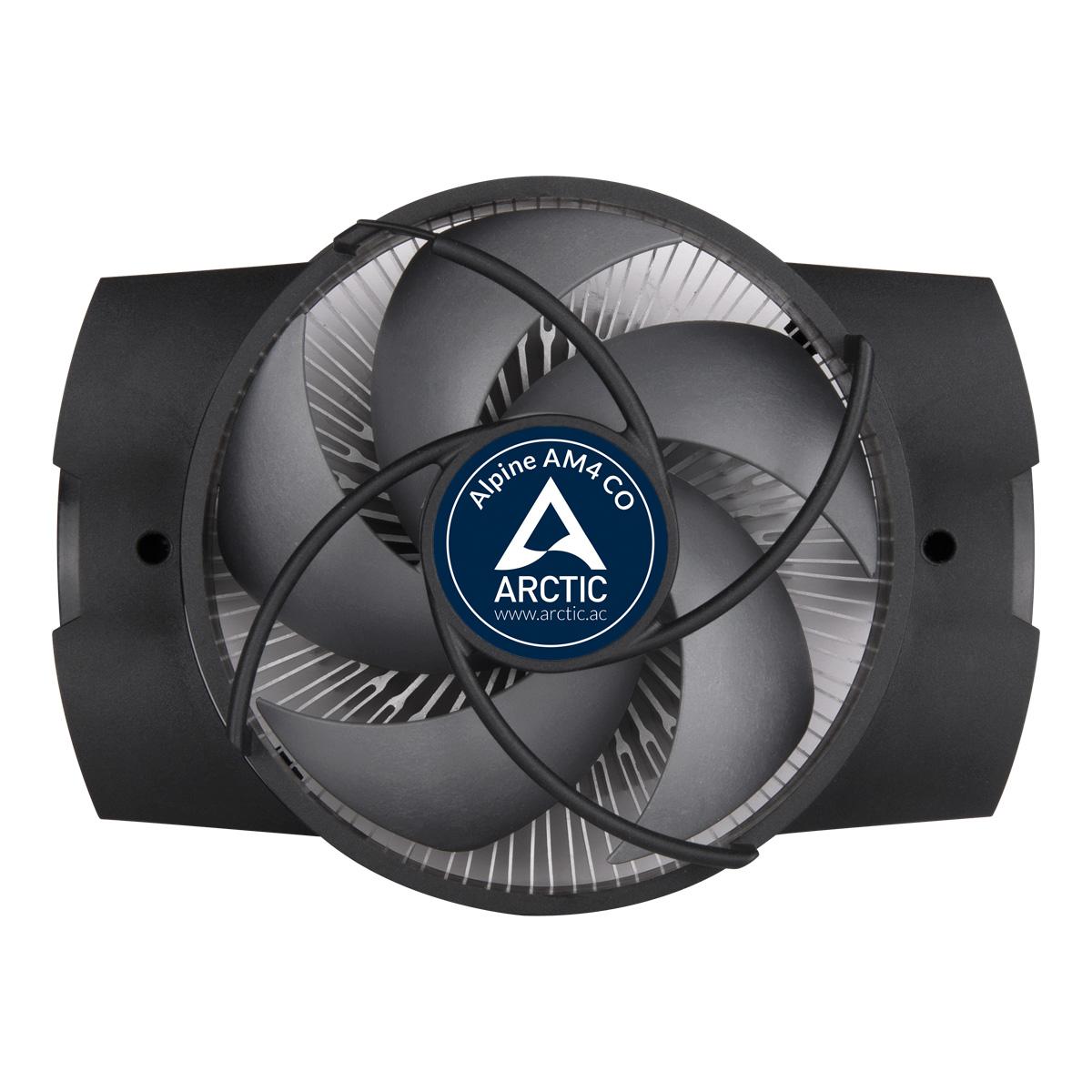 Kompakter AMD CPU-Kühler für Dauerbetrieb ARCTIC Alpine AM4 CO Vorderansicht