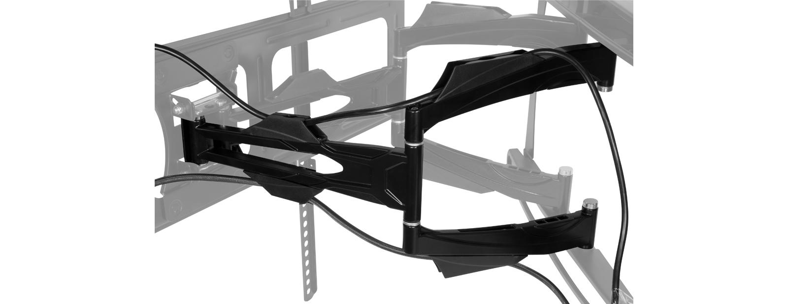Vollbewegliche XL TV-Wandhalterung ARCTIC TV Flex L Detailansicht Kabelführung