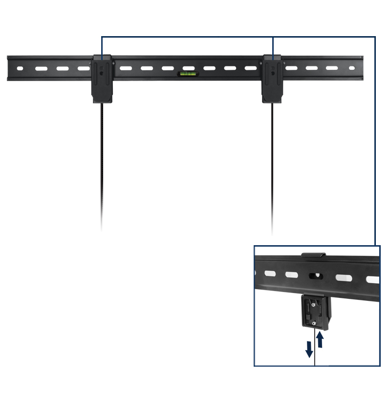 XL TV Wall Mount ARCTIC TV Basic L with Stable Lock-System
