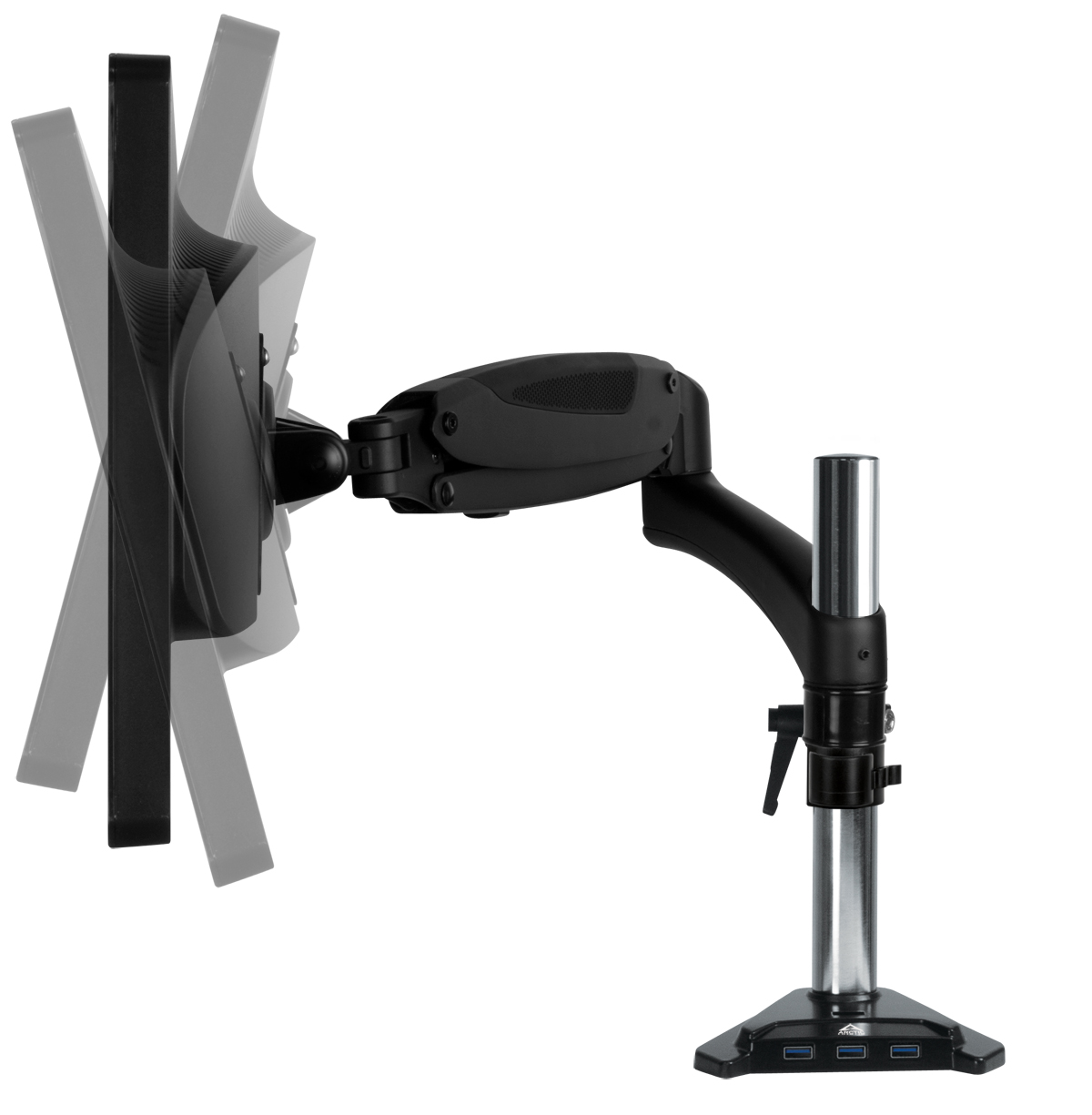 Desk Mount Gas Spring Monitor Arm ARCTIC Z1-3D (Gen 3) Tiltable