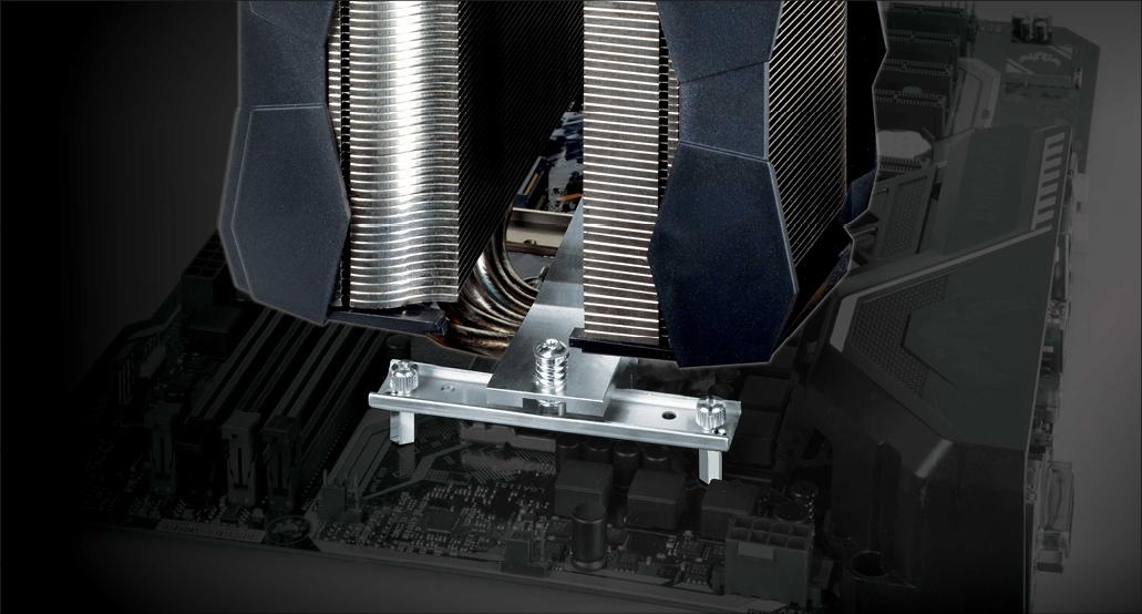 Multikompatibler Dual Tower CPU Kühler  ARCTIC Freezer 50 Installation