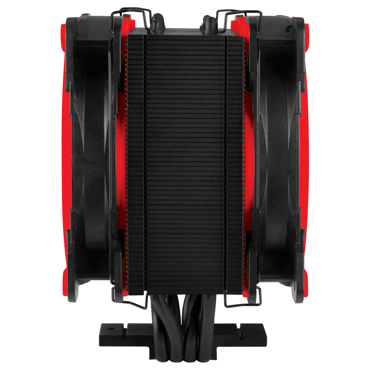 Tower CPU Cooler with Push-Pull Configuration ARCTIC Freezer 34 eSports DUO (Red) Side View