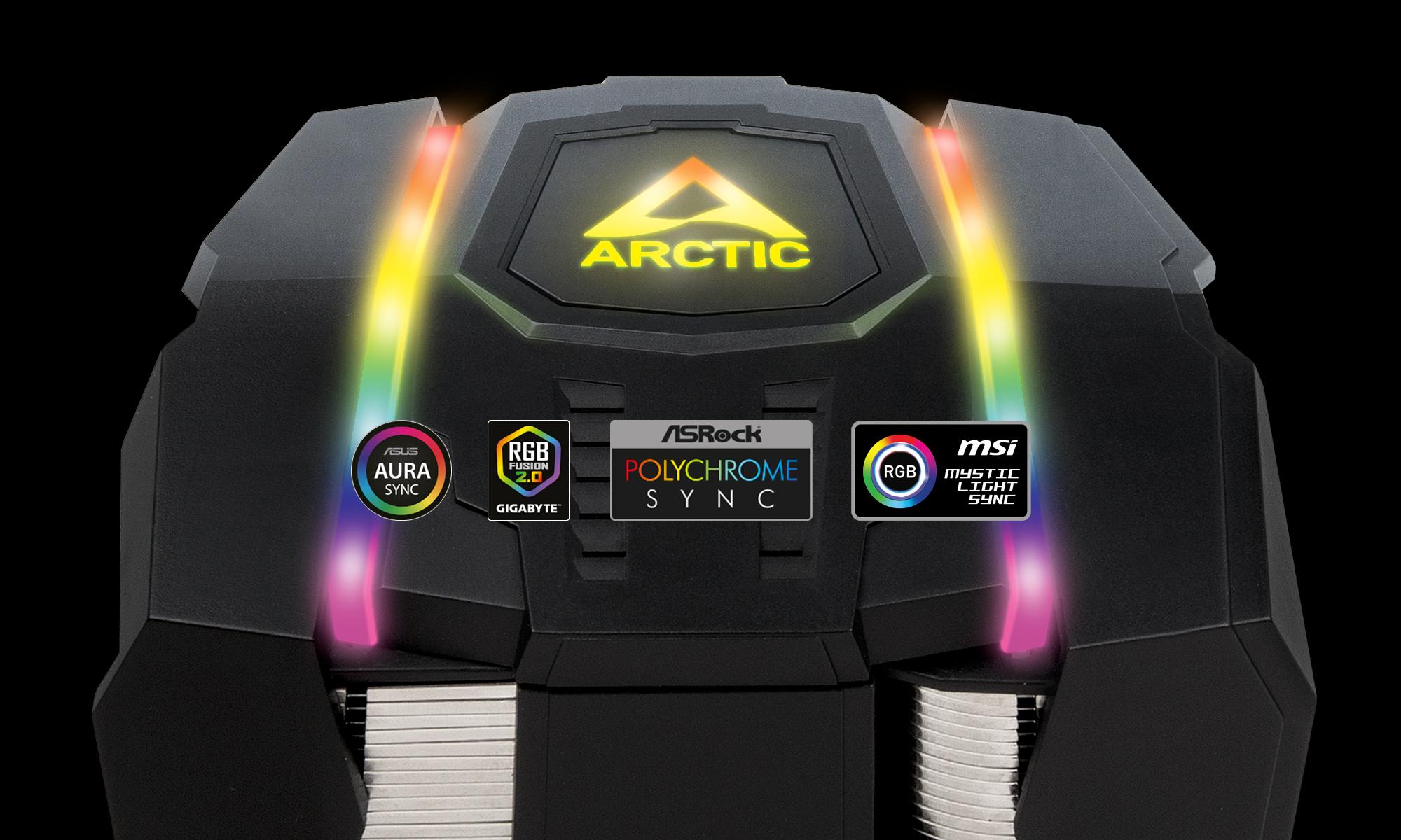 Dual Tower CPU-Kühler für AMD Ryzen™ Threadripper™ mit A-RGB Beleuchtung