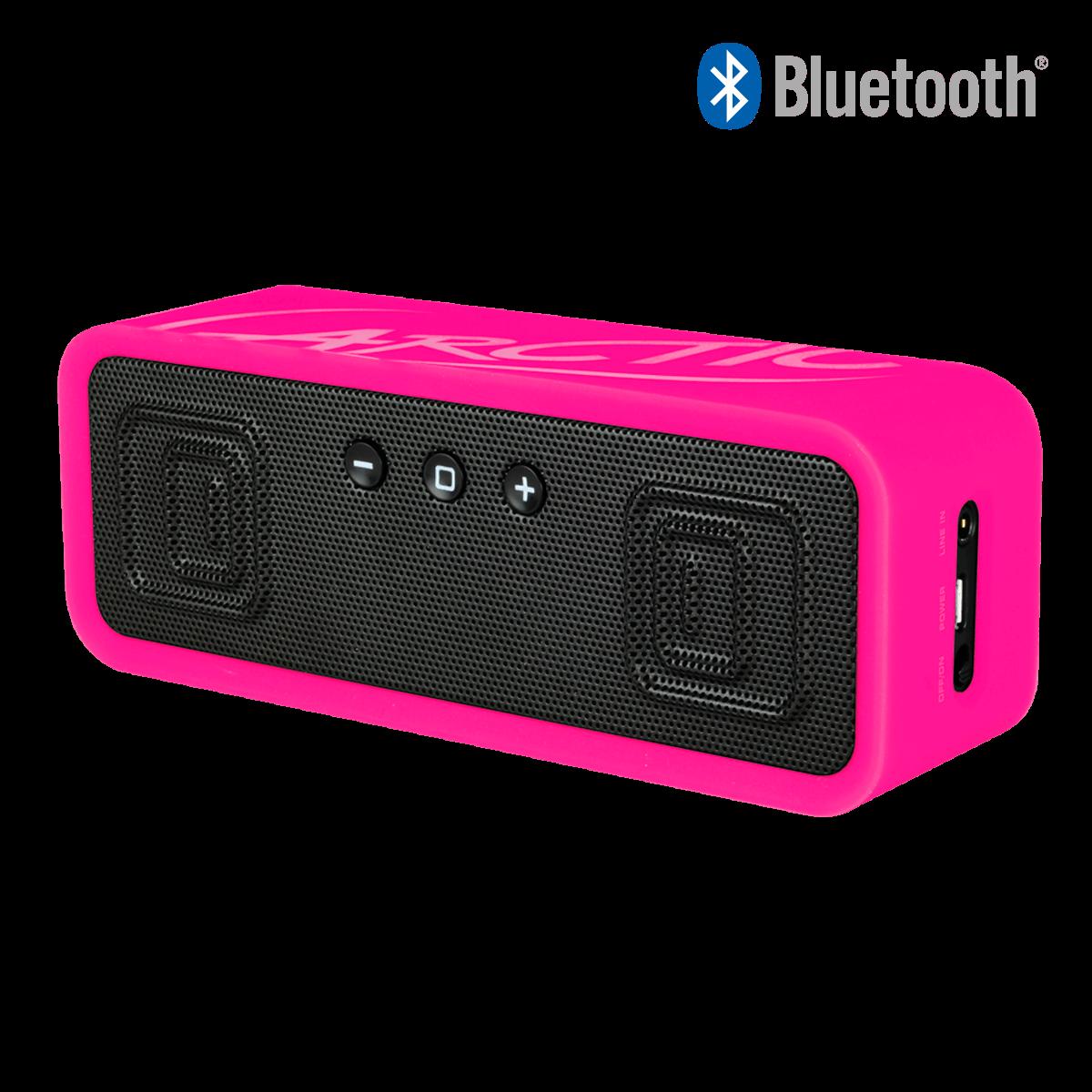 Mobiler Bluetooth 4.0 Stereo Lautsprecher mit NFC ARCTIC S113 BT | Pink