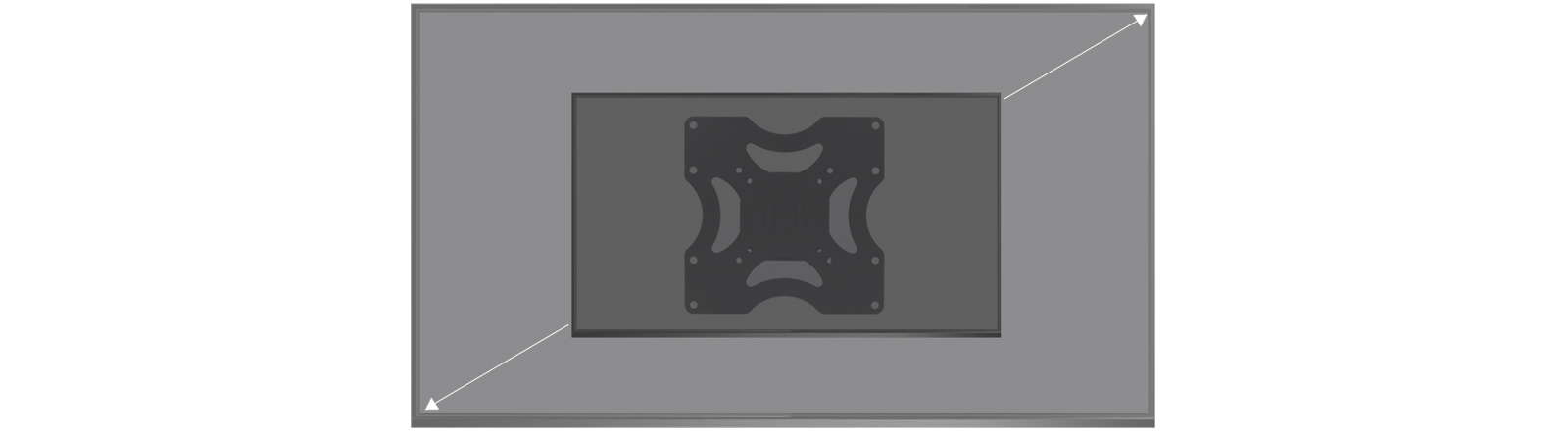 Slim TV Wall Mount ARCTIC TV Basic S for 42-55 Inches