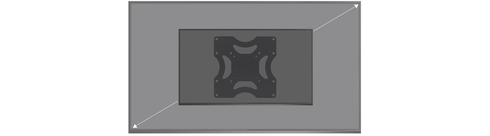 Flache TV-Wandhalterung ARCTIC TV Basic S für 42-55 Zoll