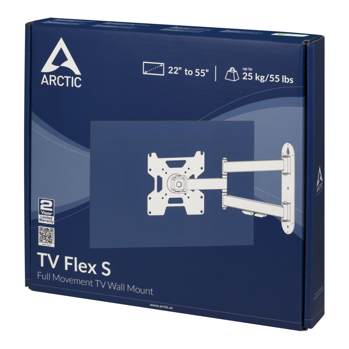 Full-Motion TV Wall Mount ARCTIC TV Flex S Packaging Front View