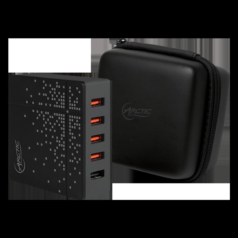 Reise-Schnellladegerät mit 5 USB Port ARCTIC Global Charger 8000