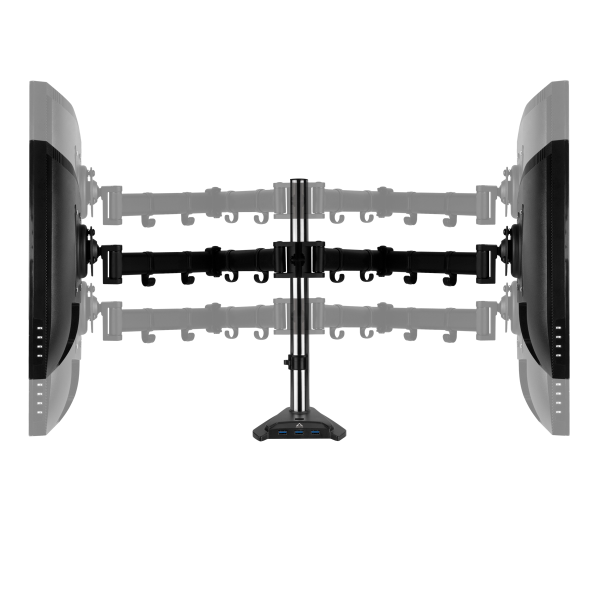 Dual-Monitorarm mit SuperSpeed USB-Hub ARCTIC Z2 Pro (Gen 3) Höhenverstellbar