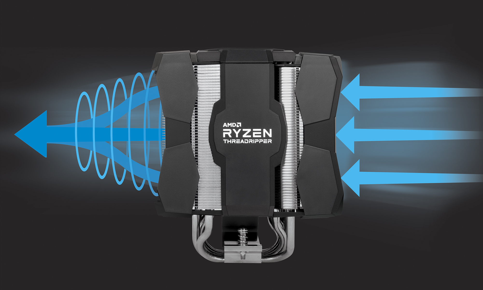Dual Tower CPU-Kühler für AMD Ryzen™ Threadripper™ ARCTIC Freezer 50 TR mit optimaler Luftzirkulation durch Push-Pull-Konfiguration