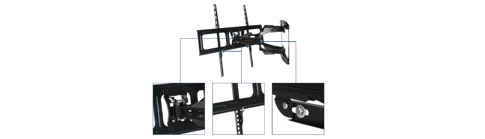 Full-Motion TV Wall Mount with Stable Lock-System ARCTIC TV Flex L