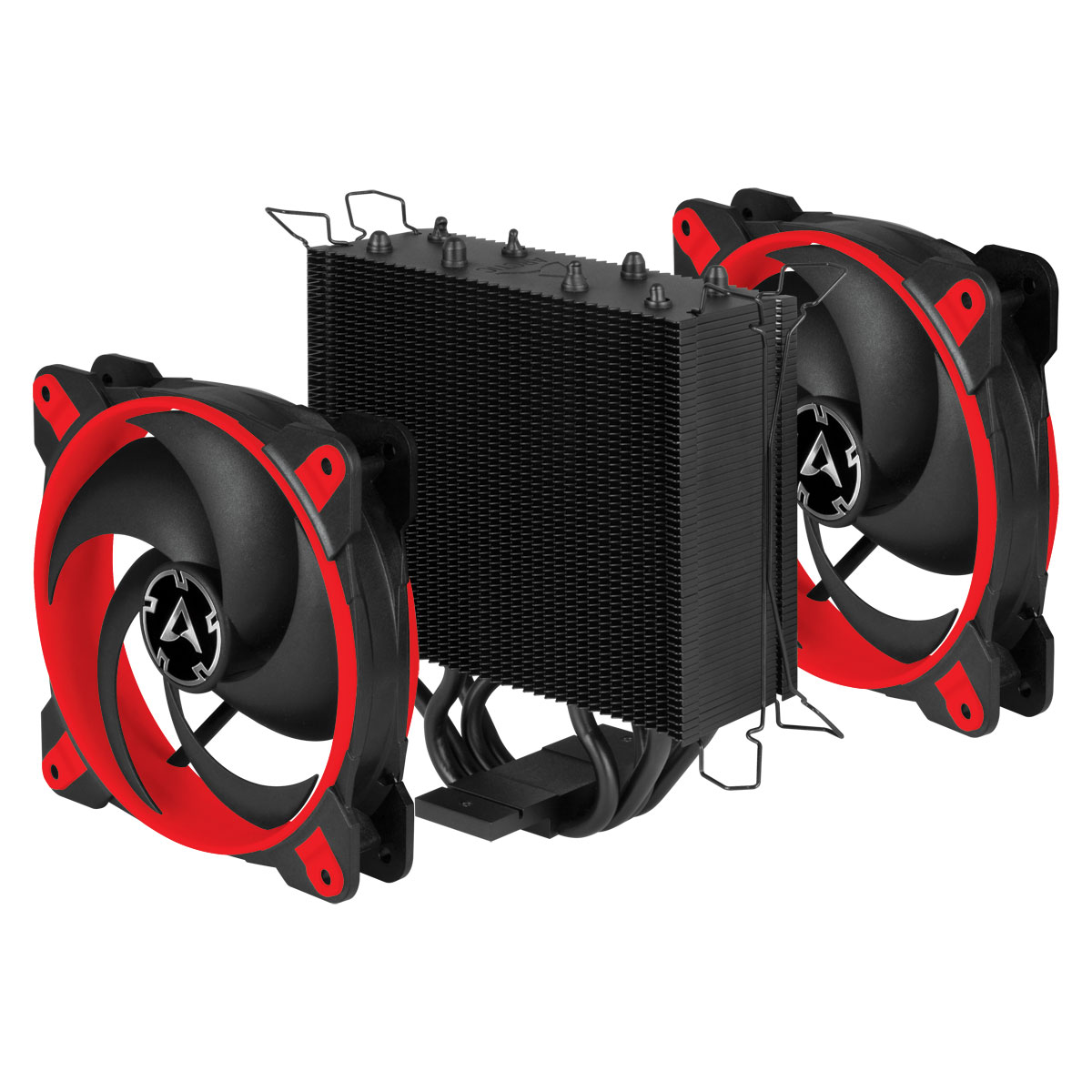 Tower CPU Cooler with Push-Pull Configuration ARCTIC Freezer 34 eSports DUO (Red) Fans and Cooling Unit Separated