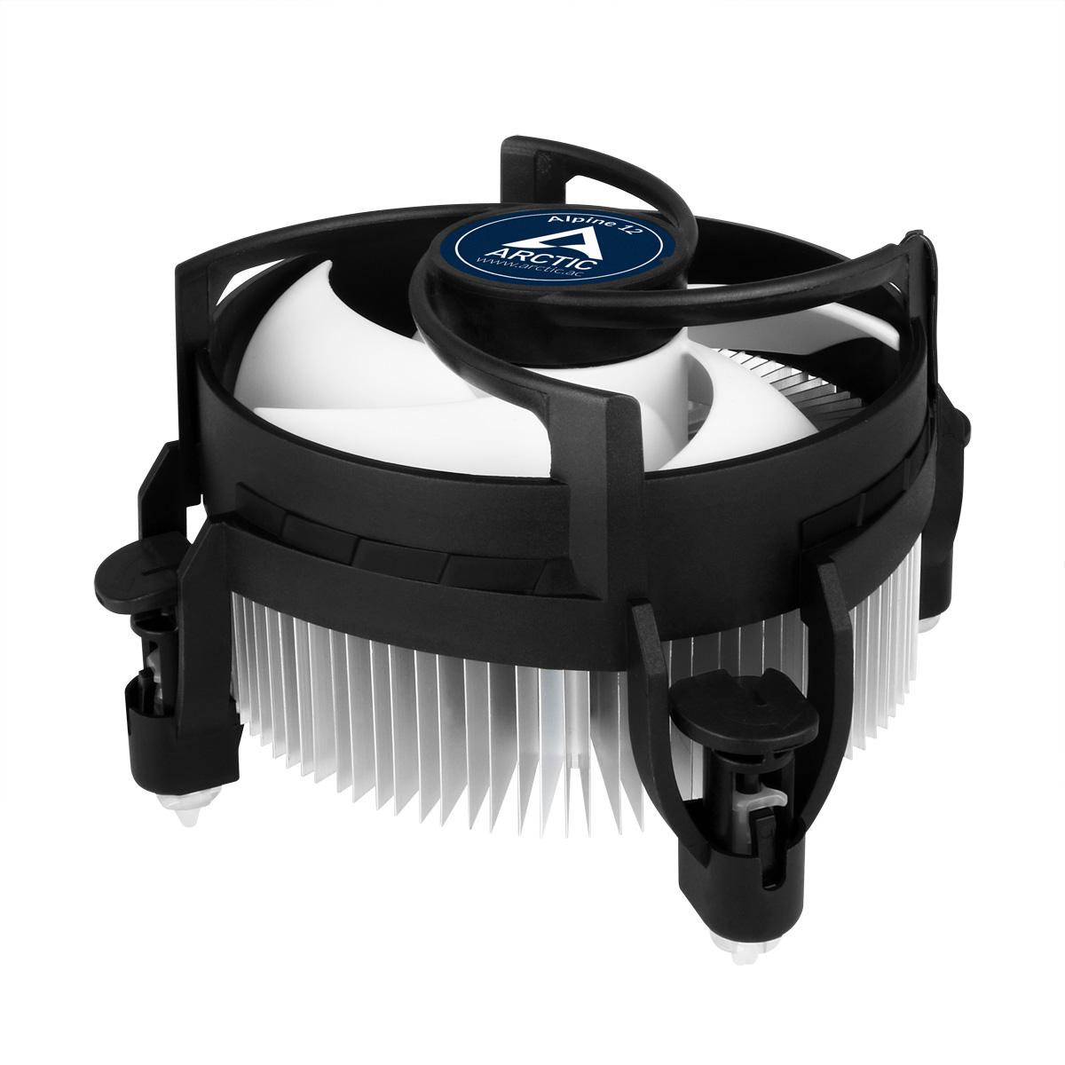 Kompakter Intel CPU-Kühler ARCTIC Alpine 12 Schrägansicht