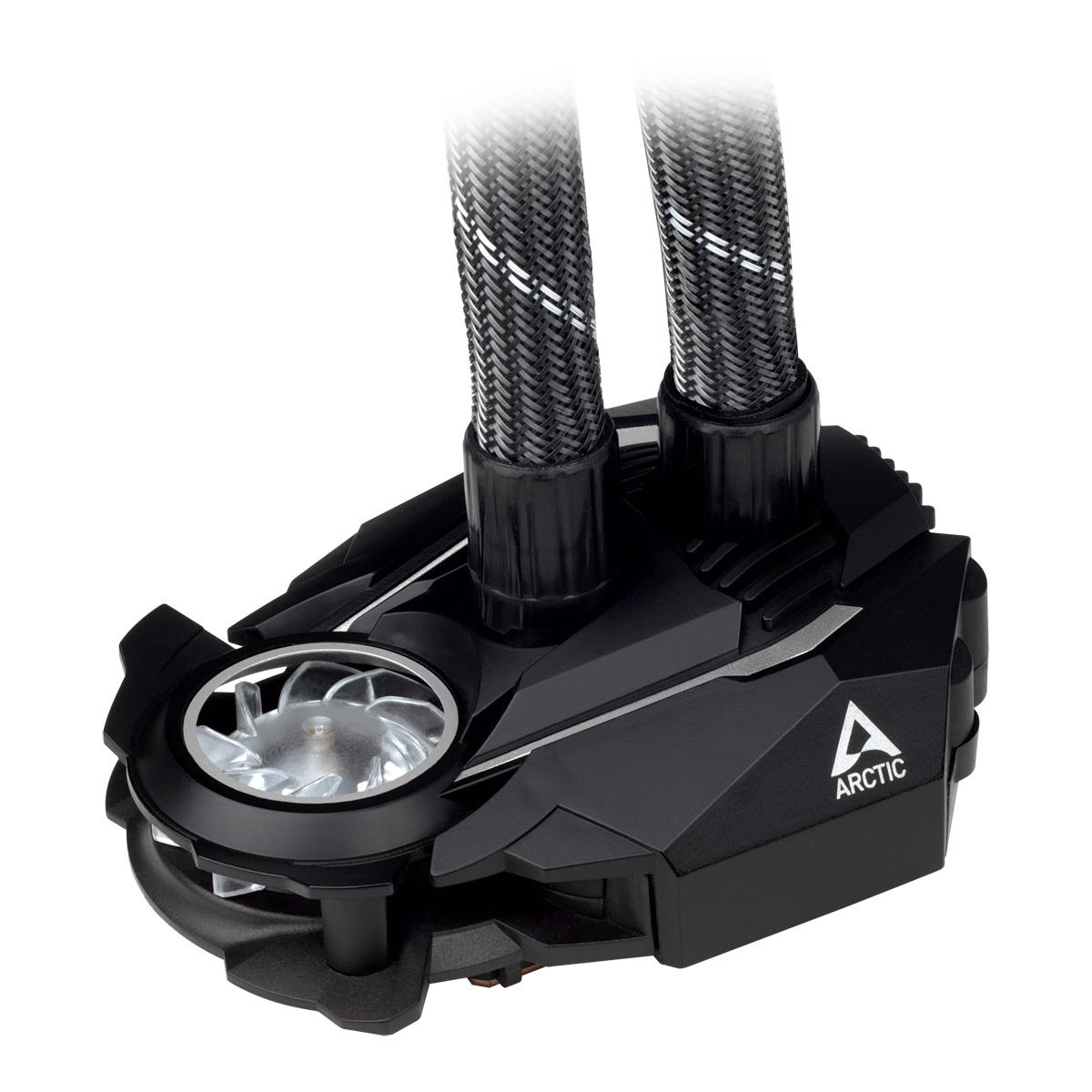 Multikompatibler AiO CPU-Wasserkühler ARCTIC Liquid Freezer II 120 Detailansicht Pumpe