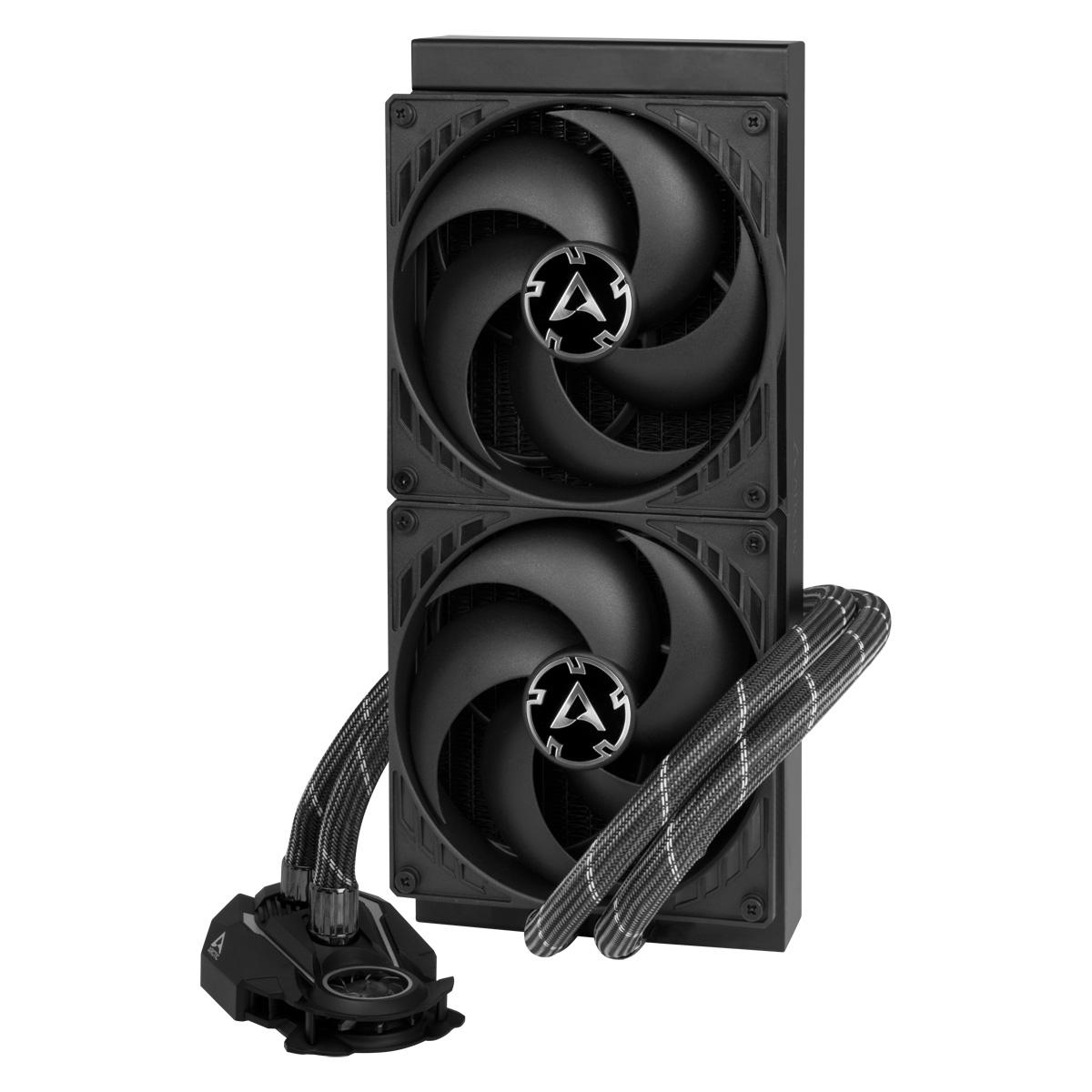 Multi-Compatible AiO CPU Water Cooler ARCTIC Liquid Freezer II 280 Front View