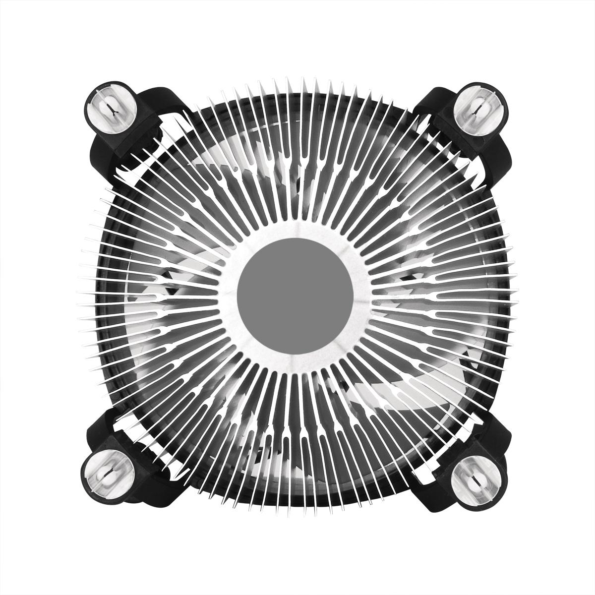 Kompakter Intel CPU-Kühler ARCTIC Alpine 12 Rückansicht