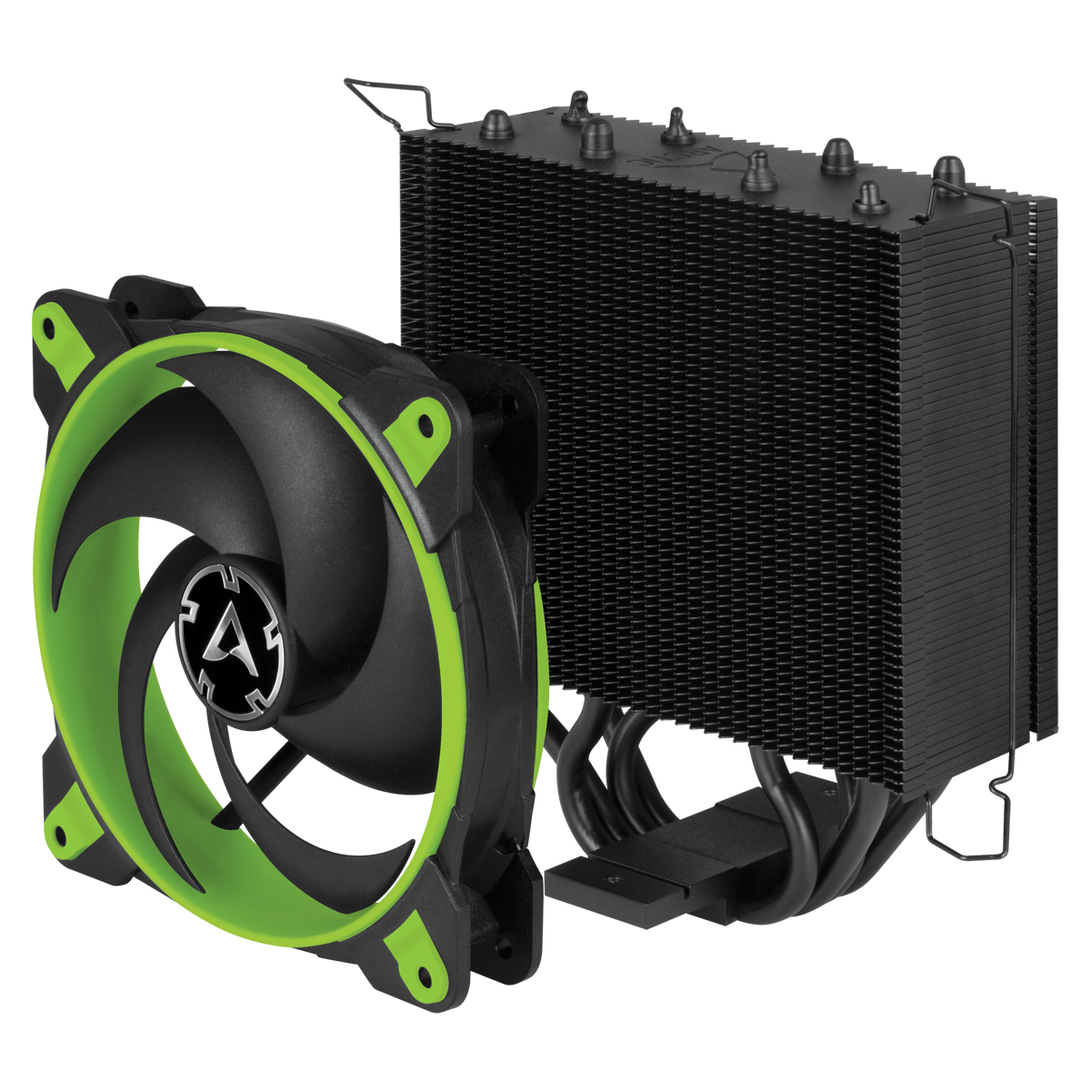 Tower CPU Cooler with BioniX P-Fan ARCTIC Freezer 34 eSports (Green) Fan and Cooling Unit Separated