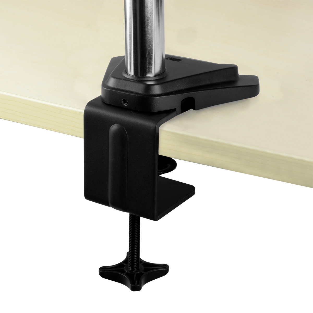 Desk Mount Gas Spring Dual Monitor Arm ARCTIC Z2-3D (Gen 3) Detail View Table Mounting Clamp Open