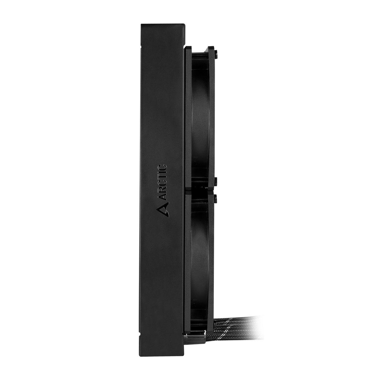 Multi-Compatible AiO CPU Water Cooler ARCTIC Liquid Freezer II 240 Side View