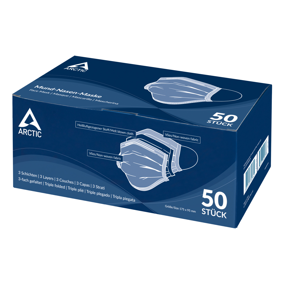 ARCTIC Nose and Mouth Mask Packaging Front View