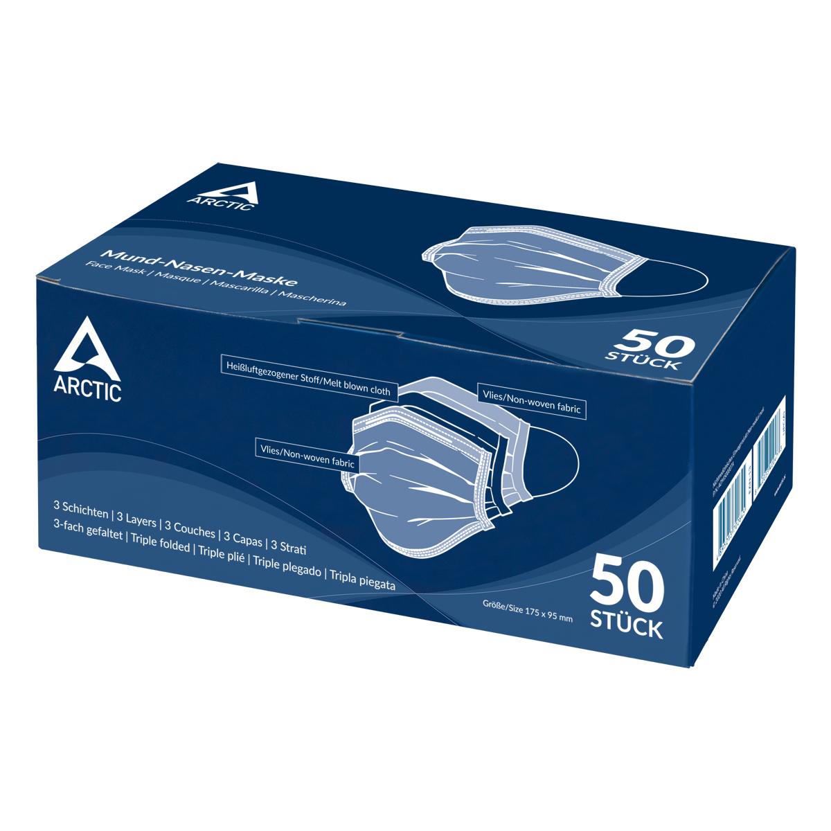 ARCTIC Mund-Nasen-Maske Produktverpackung Vorderansicht