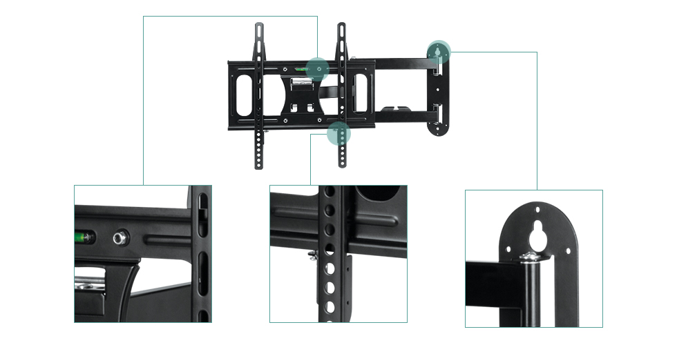 Full-Motion TV Wall Mount with Stable Lock-System ARCTIC TV Flex M